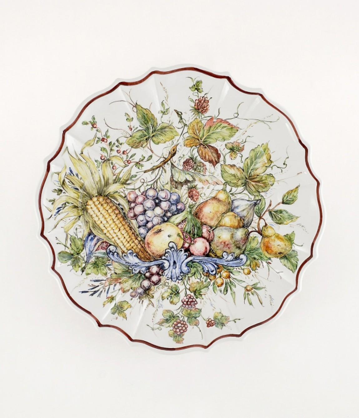 Piatto coste frutta luxury piatto in ceramica decorato a - Piatti di frutta decorati ...