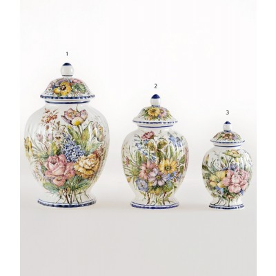 Vaso Melone Fiori piccolo Luxury 3 Vaso in ceramica decorato a mano