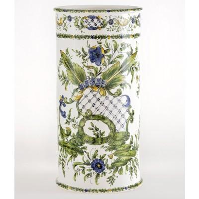 Porta ombrelli cilindrico Porta ombrelli in ceramica decorato a mano