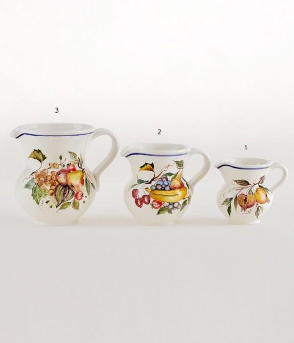 Boccale 1/4 litro dec. Frutta 1 Boccale in ceramica decorato  a mano