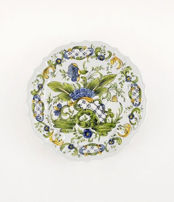 """Piatto """"Ponticello"""" diametro cm35 Piatto in ceramica decorato a mano"""