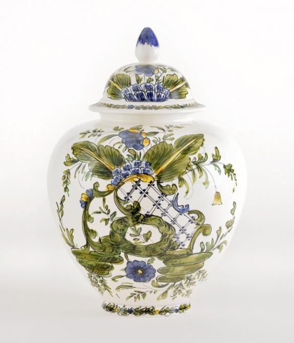 Vaso Liscio altezza cm36 Vaso liscio in ceramica decorato a mano