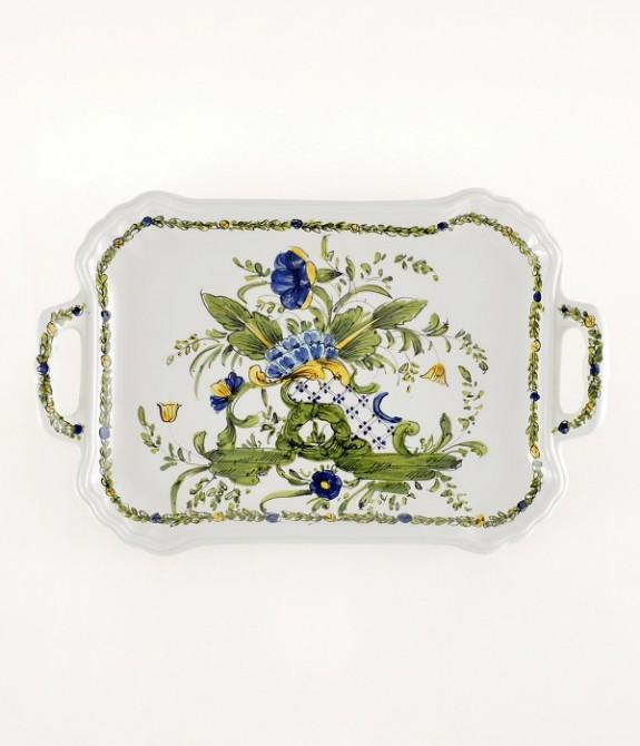 "Vassoio ""Ponticello"" lunghezza cm26 Vassoio in ceramica decorato a mano"