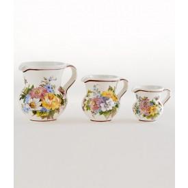 Boccale 1/2 litro dec. Fiori 2 Boccale in ceramica decorato a mano