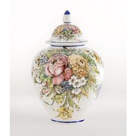 Vaso Melone Fiori grande Luxury Vaso in ceramica decorato a mano
