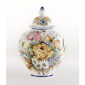 Vaso Melone Fiori piccolo Luxury Vaso in ceramica decorato a mano