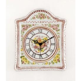 Orologio Casetta in ceramica decorato a mano