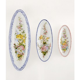 Ovale Liscio a fiori