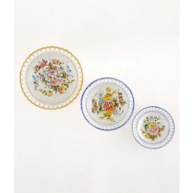Paniere Portichetto Rotondo 3 Diametro cm25 Paniere in ceramica decorato a mano