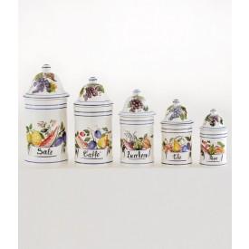 Vaso da cucina 2 altezza cm18 Vaso da cucina in ceramica decorato a a mano