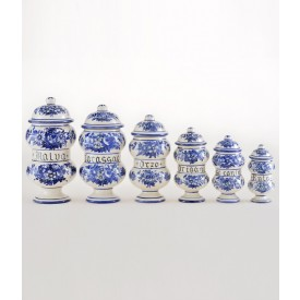 Vaso Farmacia 1 altezza cm16 Vaso Farmacia in ceramica decorato a mano