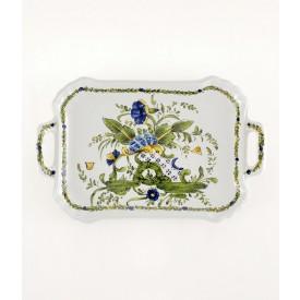 "Vassoio ""Ponticello"" lunghezza cm37 Vassoio in ceramica decorato a mano"