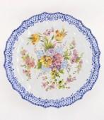 Piatto coste Fiori Luxury Diametro50 Piatto in ceramica decorato a mano