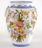 Orcio con anelli 2 Orcio in ceramica decorato a mano