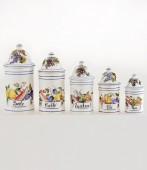 Vaso da cucina 5 altezza cm27,5 Vaso da cucina in ceramica decorato a mano