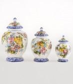 Vaso Scanellato 1 altezza cm20 Vaso Scanellato in ceramica decorato a mano
